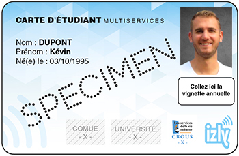 Carte étudiant sans contact